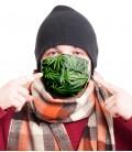 Предпазна маска Cannabis leaves