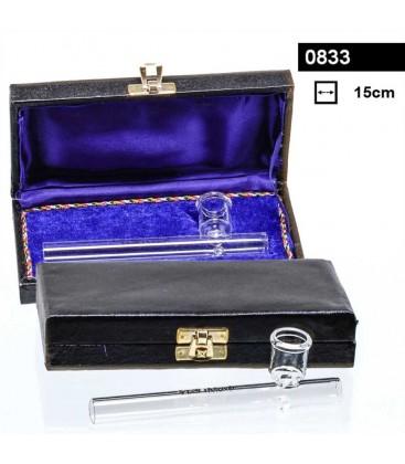 Стъклена лула в кутия 15см
